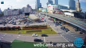 Traffic webcam at the 40th intersection in Warsaw
