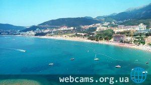 Becici-Rafailovici beach webcam